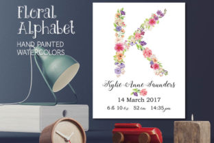 Complete Alphabet in Mixed Florals Graphic Objects By Lolly's Lane Shoppe