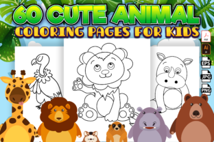 Print on Demand: Cute Animal Coloring Book for Kids Graphic Coloring Pages & Books Kids By Kristy Coloring 1