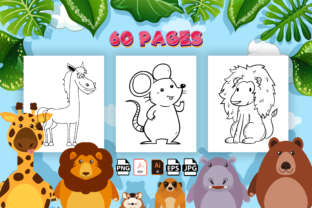 Print on Demand: Cute Animal Coloring Book for Kids Graphic Coloring Pages & Books Kids By Kristy Coloring 3