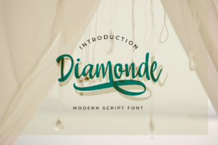 Print on Demand: Diamonde Script & Handwritten Font By Nico Muslib