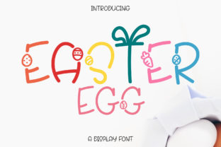 Print on Demand: Easter Egg Display Font By Wanida Toffy