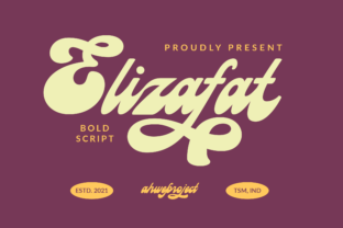 Print on Demand: Elizafat Script & Handwritten Font By ahweproject