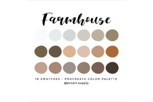 Farmhouse Procreate Color Palette Graphic Add-ons By digitalartsupply0