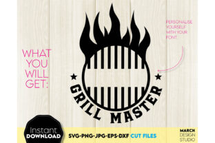 Father Day SVG Grill Master Apron Design Graphic Crafts By March Design Studio