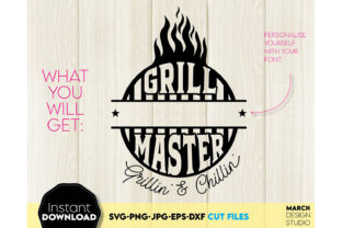 Fathers Day SVG Grill Master SVG Design Graphic Crafts By March Design Studio