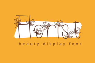 Print on Demand: Florist Display Font By Creative Zone