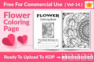 Flower Coloring Page KDP Interior Vol14 Graphic KDP Interiors By Md Abu Saeid