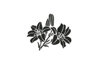 Flowers Silhouette Single Flowers & Plants Embroidery Design By DigitEMB