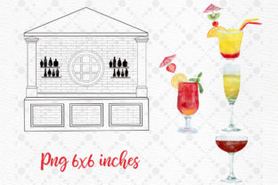 Print on Demand: Girls in Cocktail Bar Girls Clipart Graphic Illustrations By LeCoqDesign 4