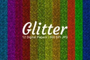 Print on Demand: Glitter Digital Paper Set Graphic Backgrounds By Craphist