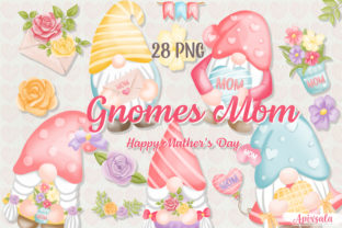Gnome Mom & Spring Watercolor PNG Bundle Graphic Crafts By Apixsala