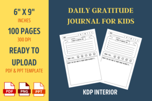 Print on Demand: Gratitude Journal for Kids KDP Interior Graphic KDP Interiors By ownuniquedesign