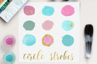 Print on Demand: Handpainted Brush Strokes - Make-Up Graphic Objects By northseastudio