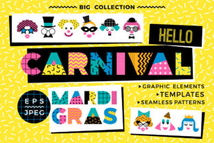 Hello Carnival! Vector Collection Graphic Illustrations By Nadia Grapes