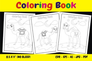 Print on Demand: KDP Interior Coloring Book Animal Camel Graphic KDP Interiors By edywiyonopp