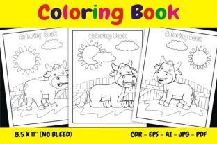 Print on Demand: KDP Interior Coloring Book Animal Cow Graphic KDP Interiors By edywiyonopp