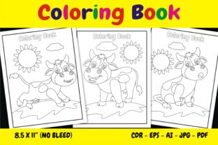 Print on Demand: KDP Interior Coloring Book Dairy Cows Graphic KDP Interiors By edywiyonopp