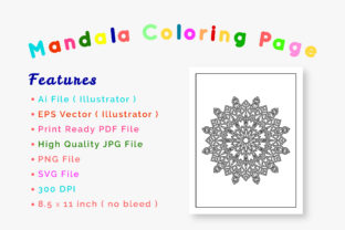Print on Demand: Mandala Coloring Page & Book for Kids Graphic Coloring Pages & Books By srempire