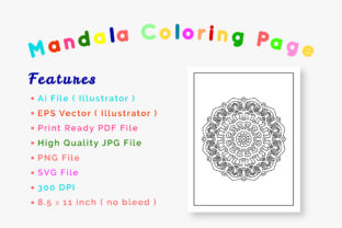 Print on Demand: Mandala Coloring Pages & Books for Kids Graphic Coloring Pages & Books By srempire