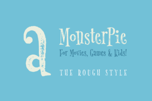 Print on Demand: Monster Pie Rough Serif Font By Marc Lohner