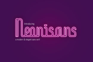 Print on Demand: Neonisans Display Font By Shakatype