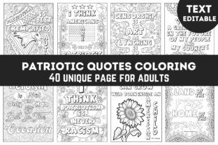 Patriotic Quotes Coloring Book for Adult Graphic Coloring Pages & Books Adults By Leos Designs
