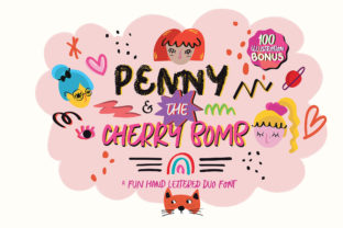 Print on Demand: Penny & the Cherry Bomb Display Font By Blue Robin Design Shop