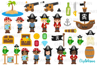 Pirate Clip Art, Pirates, Pirate Ship Graphic Illustrations By ClipArtisan