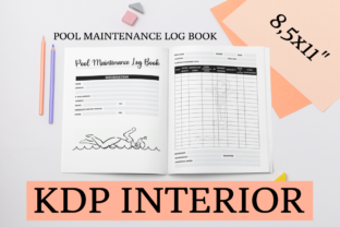 Print on Demand: Pool Maintenance Log Book | KDP Interior Graphic KDP Interiors By KDP Mastermind