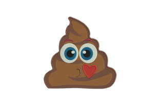 Poop Emoji Boys & Girls Embroidery Design By DigitEMB