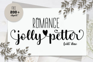 Print on Demand: Romance Jollypetter Script & Handwritten Font By Fillo Graphic