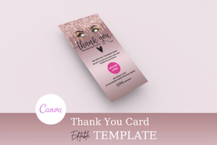 Print on Demand: Rose Gold Glitter Drip  Thank You Card Graphic Graphic Templates By Andreea Eremia Design