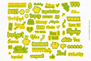 Print on Demand: Stickers for Budget Money and Payments. Graphic Illustrations By artsbynaty