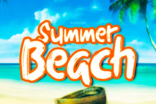 Print on Demand: Summer Beach Display Font By welovefont