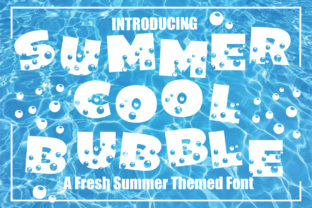 Print on Demand: Summer Cool Bubble Display Font By KtwoP