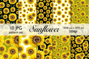 Sunflower Seamless Pattern Watercolor Graphic Patterns By CaraulanStore