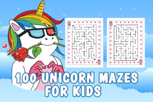 Print on Demand: Unicorn Mazes Book Pages for KIds Graphic Coloring Pages & Books Kids By Creative Color Desigen