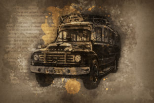 Print on Demand: Vintage Car Printables 300 Dpi Pack 41 Graphic Illustrations By The leaves river