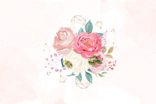 Print on Demand: Watercolor Floral Decoration Vector Graphic Graphic Templates By Dzyneestudio