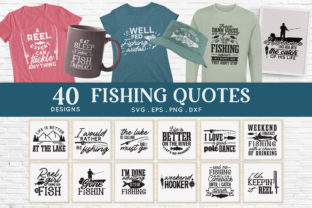 40 Fishing Svg Bundle Png Eps Dxf Graphic Crafts By peachycottoncandy