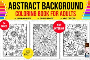 Abstract Background Coloring Book Graphic Coloring Pages & Books Adults By KDP Empire
