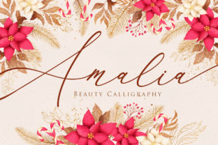 Print on Demand: Amalia Script & Handwritten Font By Maung Lines