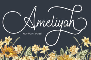 Print on Demand: Ameliyah Script & Handwritten Font By Maung Lines