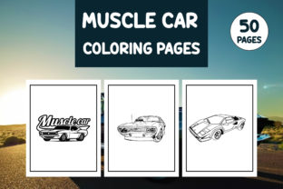 Print on Demand: American Muscle Cars Coloring Pages Graphic Coloring Pages & Books Adults By Different Design
