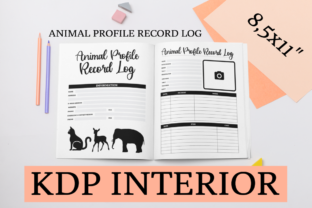 Print on Demand: Animal Profile Record Log | KDP Interior Graphic KDP Interiors By KDP Mastermind