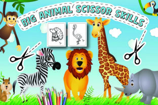 Animals Scissor Skills Activity Book Graphic Coloring Pages & Books Kids By Moonz Coloring