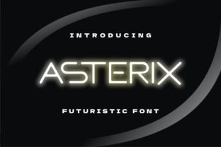 Print on Demand: Asterix Display Font By Letter Fia