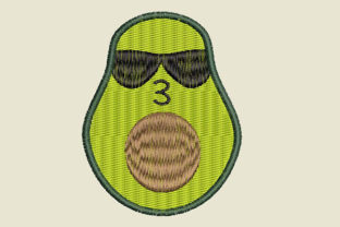 Print on Demand: Avocado Kiss Food & Dining Embroidery Design By Dizzy Embroidery Designs
