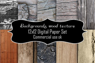 Print on Demand: Backgrounds Wood Texture Digital Paper Graphic Backgrounds By A Design in Time