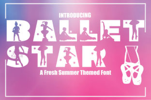 Print on Demand: Ballet Star Decorative Font By KtwoP